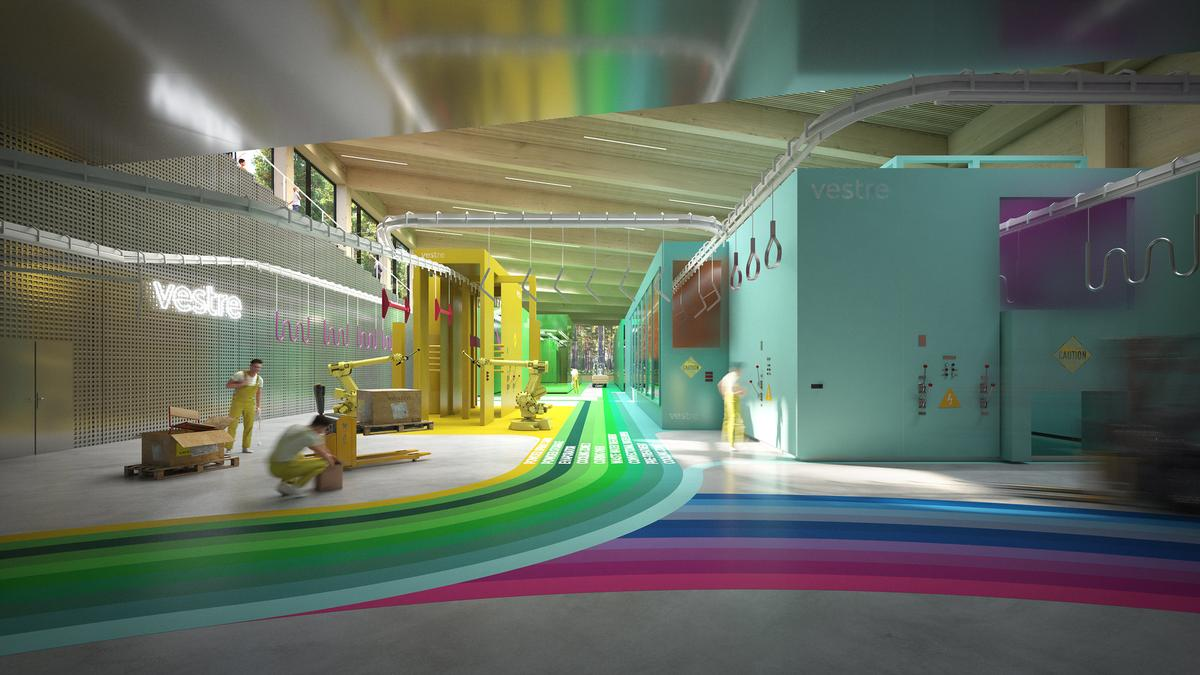 The factory will be colour coded to support an open and efficient workflow / Vestre/Bjarke Ingles Group