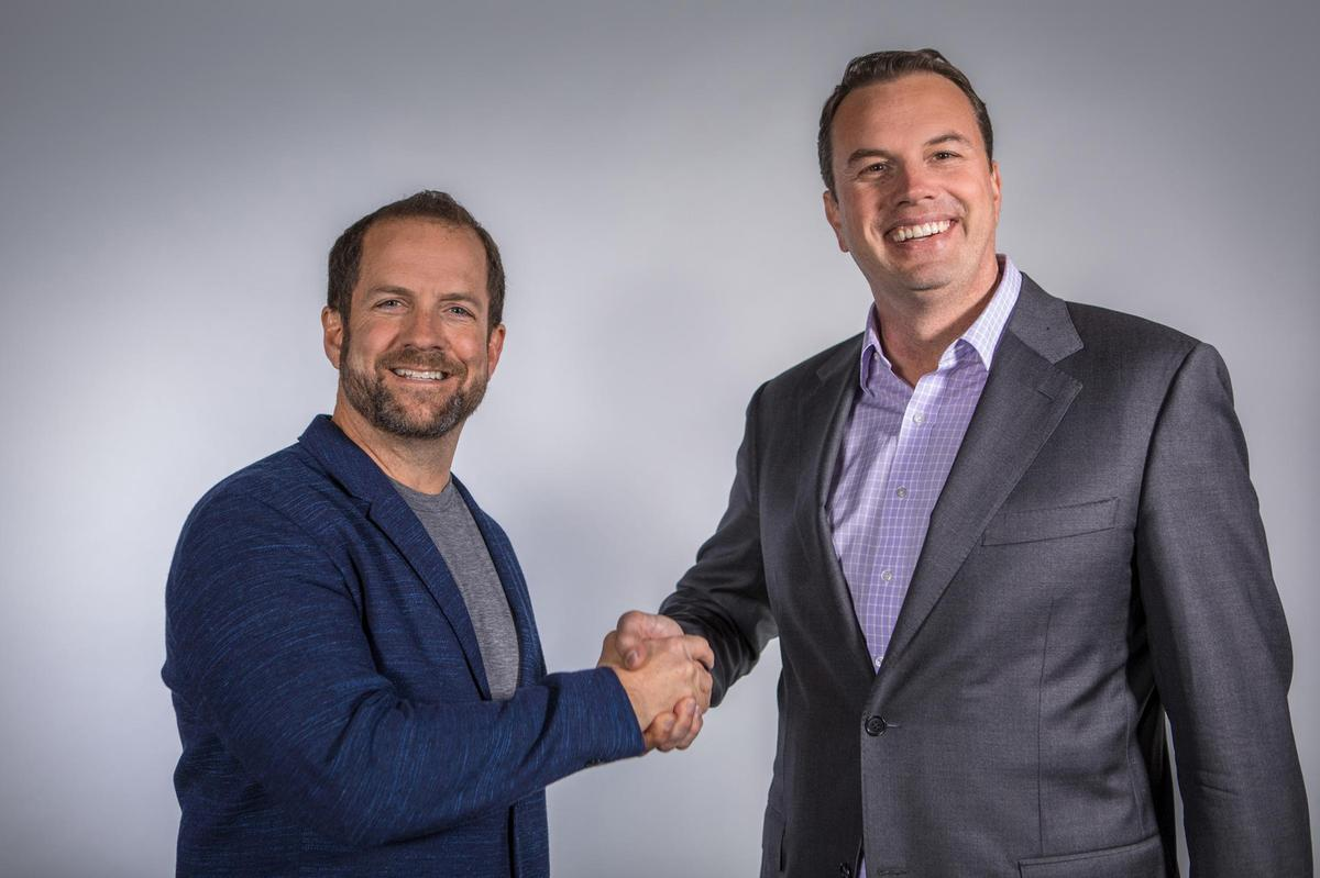 Josh McCarter (R) will be taking over as CEO from the company's co-founder Rick Stollmeyer (L)