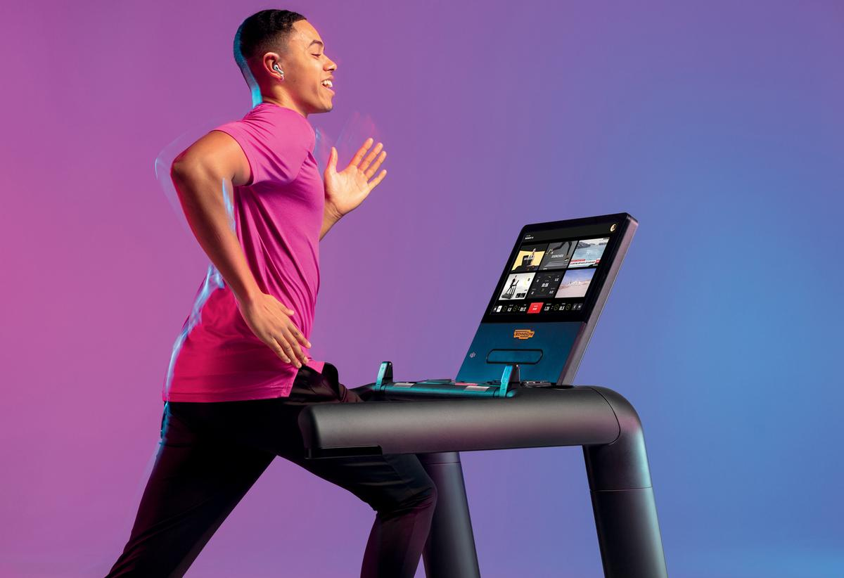 The new Excite equipment will be marketed as the line that offers the 'best ratio between floor footprint and training space' / Technogym
