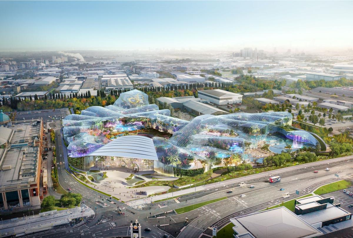 Therme Manchester is a £250m (US$308.6m, €274.4m) waterpark and spa project scheduled to be completed in 2023 / Therme Group