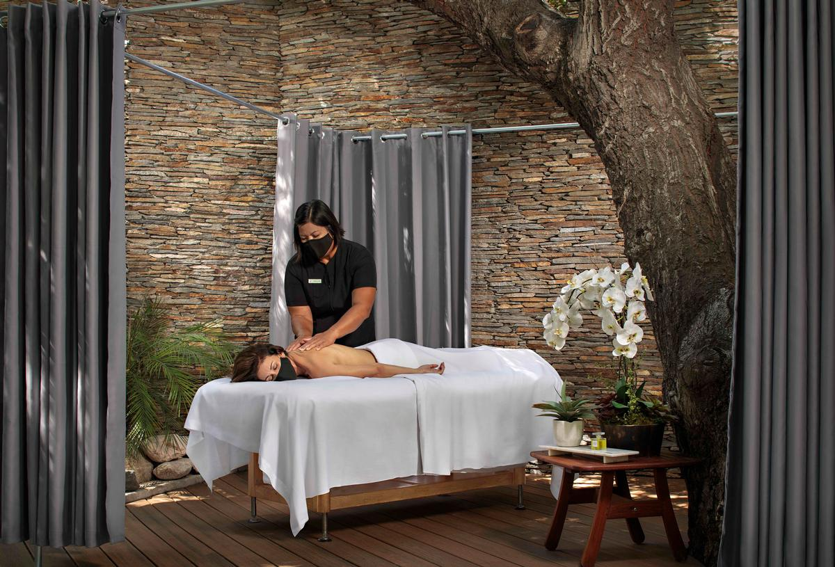 The package offers an open-air Swedish massage conducted in a new outdoor massage pavilion in Glen Ivy's Secret Garden / Glen Ivy Hot Springs