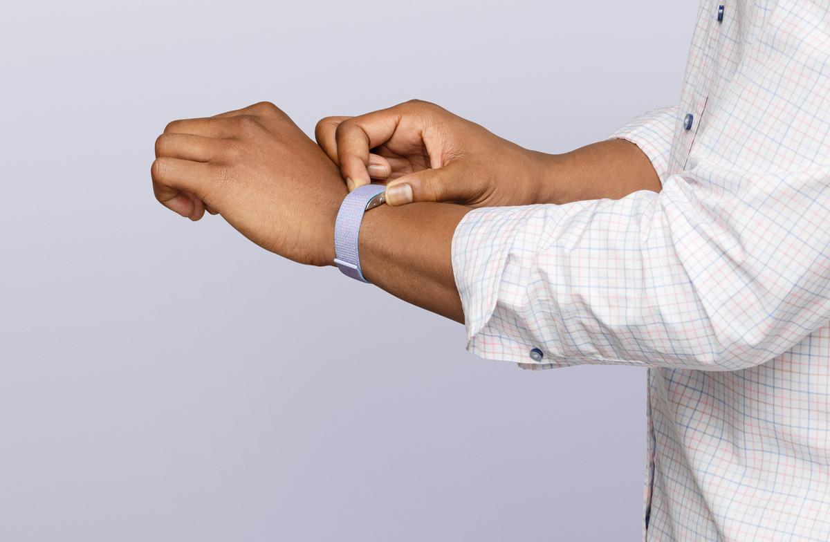 Amazon Halo Band is water resistant, allowing all-day wear, and has been designed to be a 'comfortable, non-disruptive fit', encouraging the user to wear it during the night / Amazon