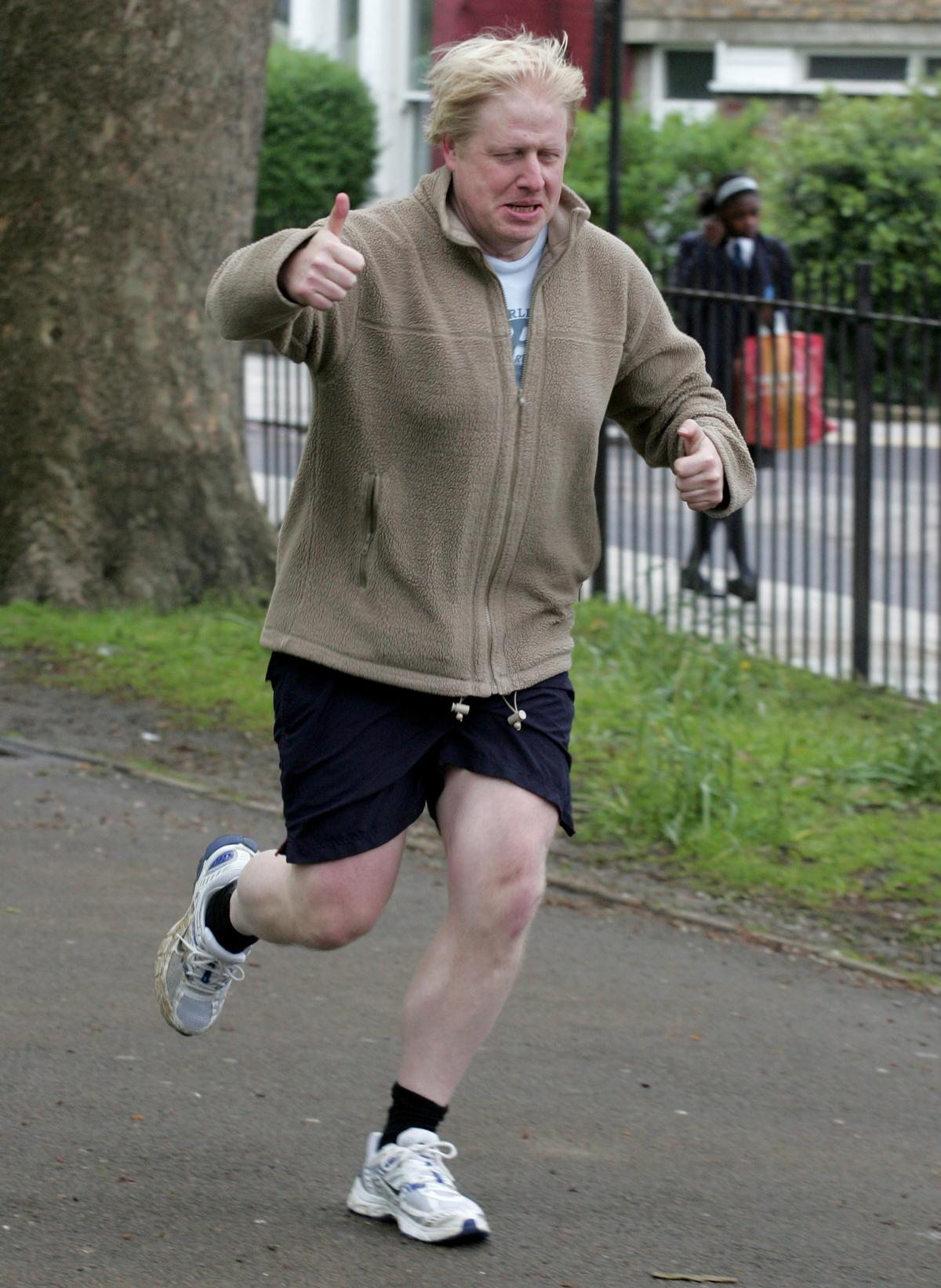 Johnson has been photographed running with Jameson near Westminster and is said to be 'taking the challenge seriously' / Shutterstock.com/Cubankite