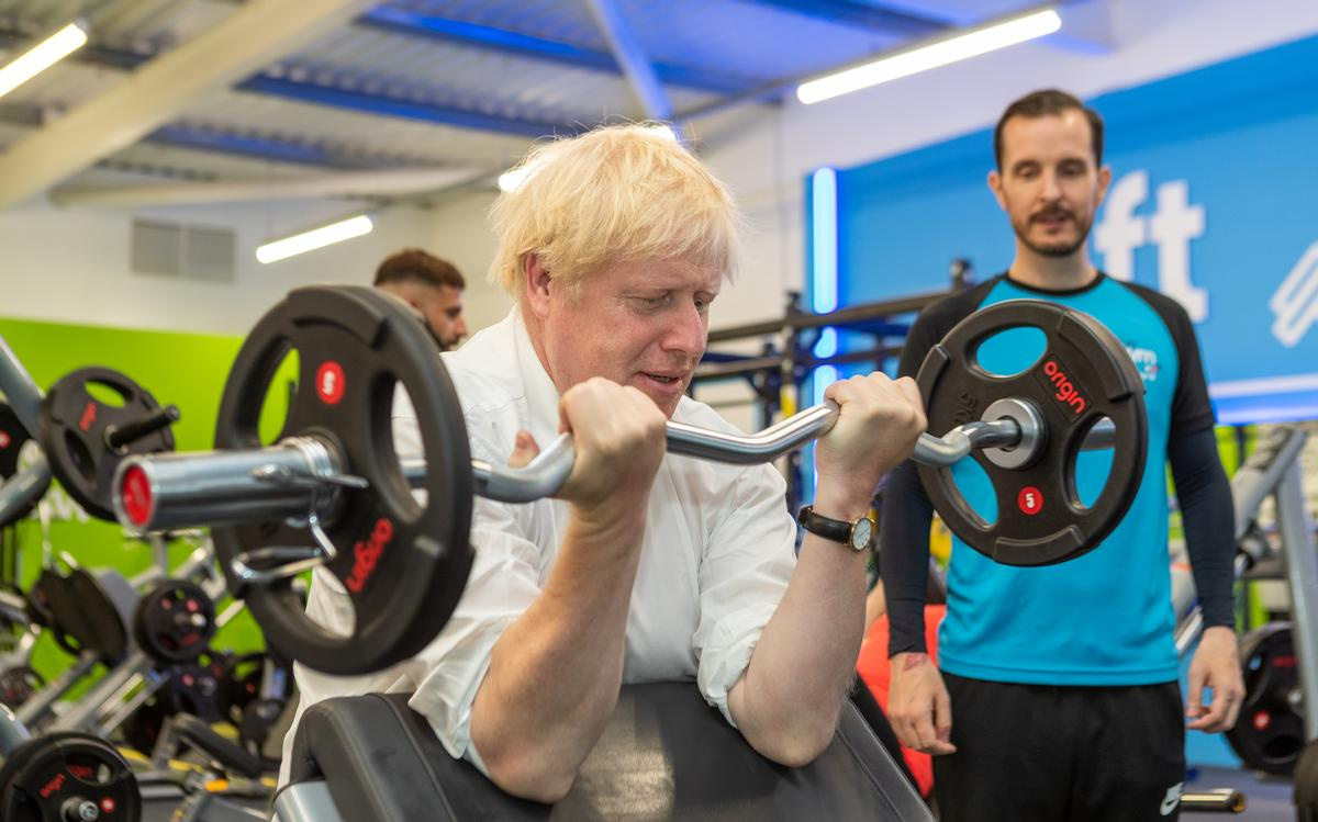 UK prime minister, Boris Johnson, visited The Gym Group South Ruislip recently / The Gym Group
