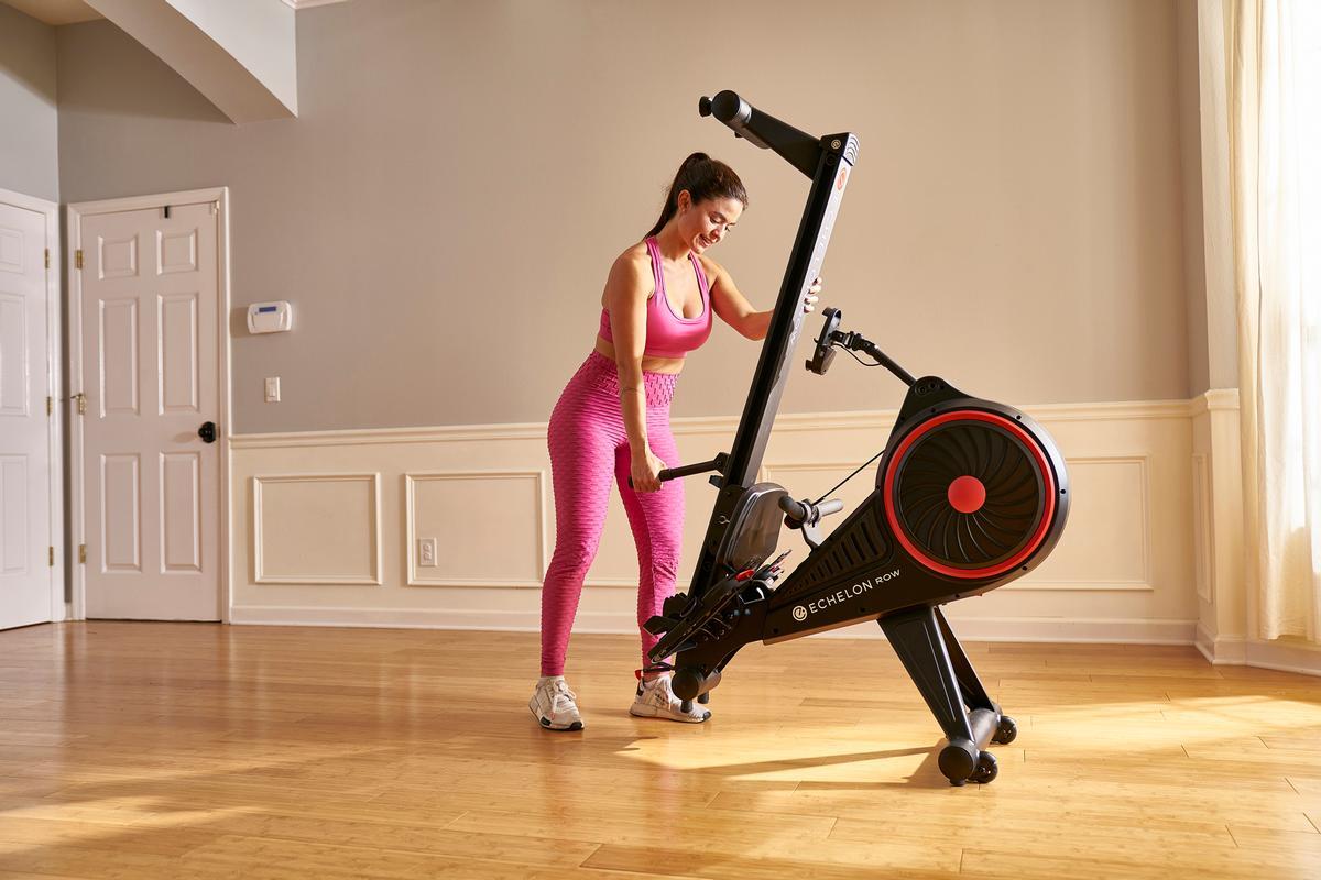 Echelon Rower features a foldable, space-friendly design / Echelon Fitness