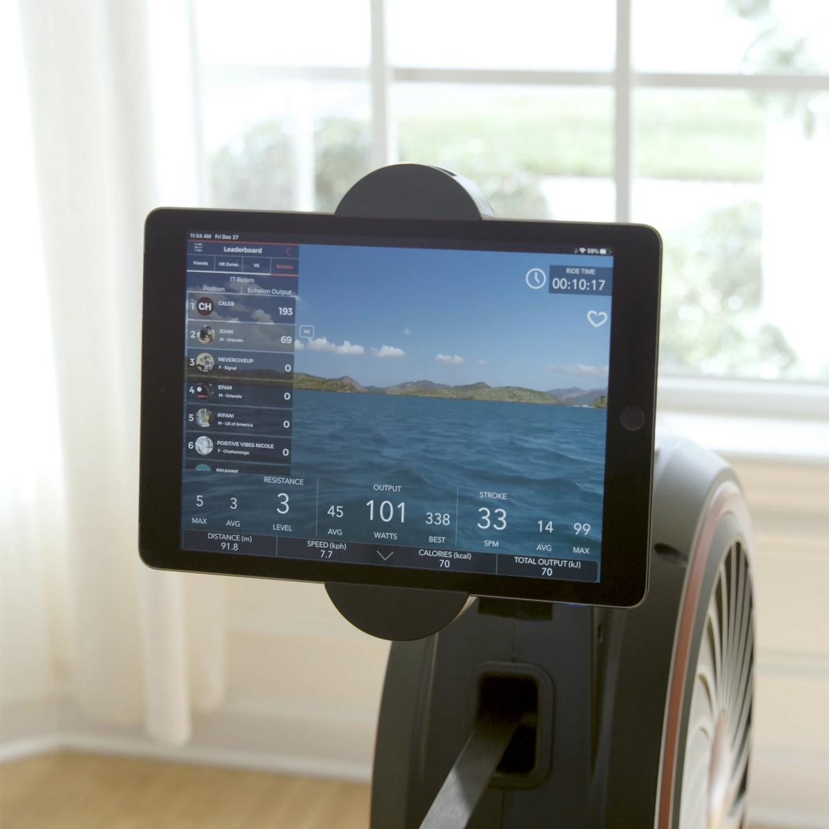 The interactive, fully customisable rower can be connected to the Echelon Fit App via Bluetooth / Echelon Fitness