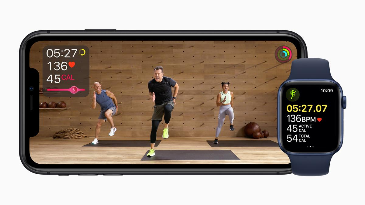 Apple Fitness+ works with Apple Watch to show metrics on screen / Apple