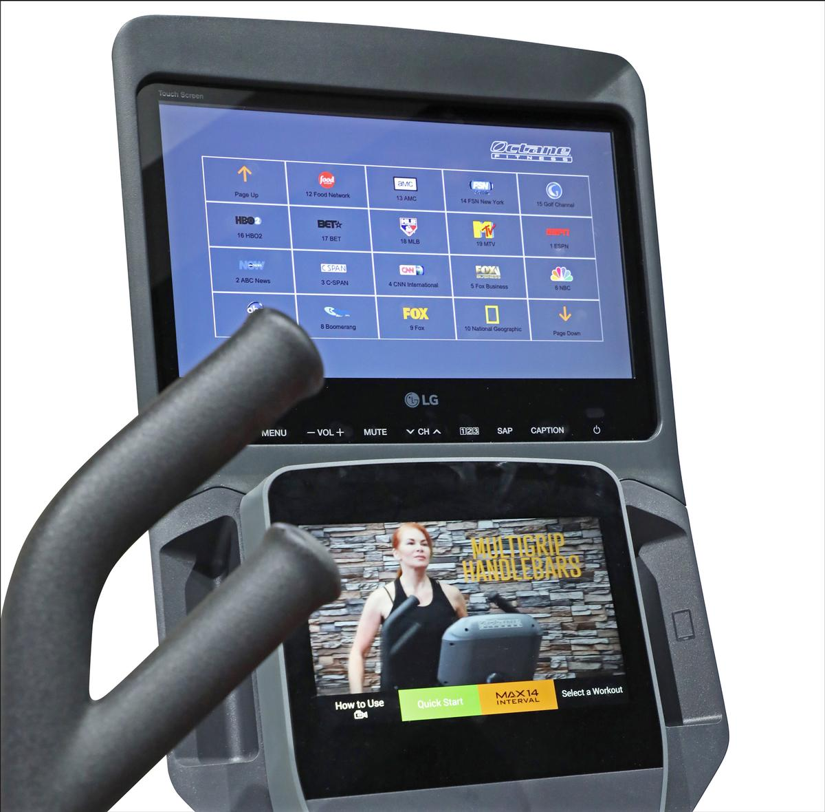 The display has a number of features specifically designed for fitness environments / LG