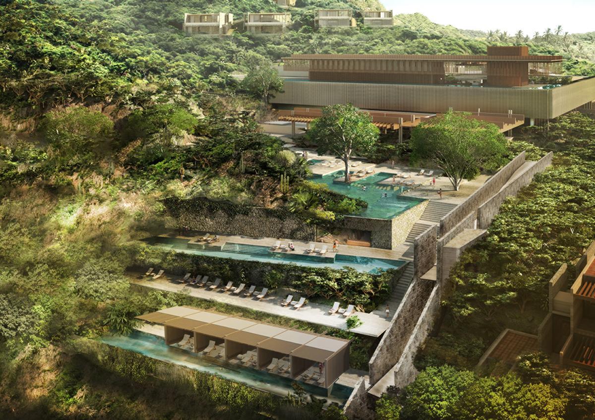 Legorreta + Legorreta reveal cascading hillside design for Four Seasons Tamarindo