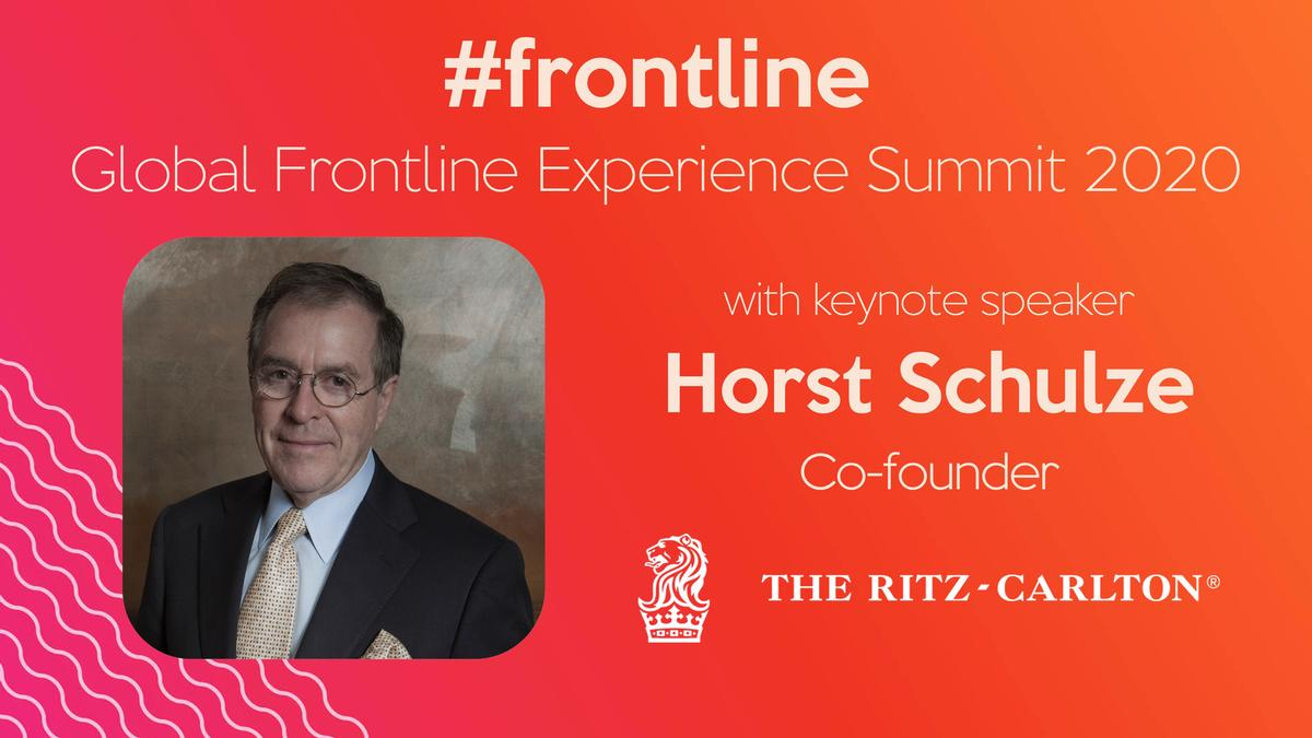 Hospitality veteran and Ritz Carlton co-founder, Horst Schulze, who brings more than 65 years' experience to the table, has been announced as a keynote