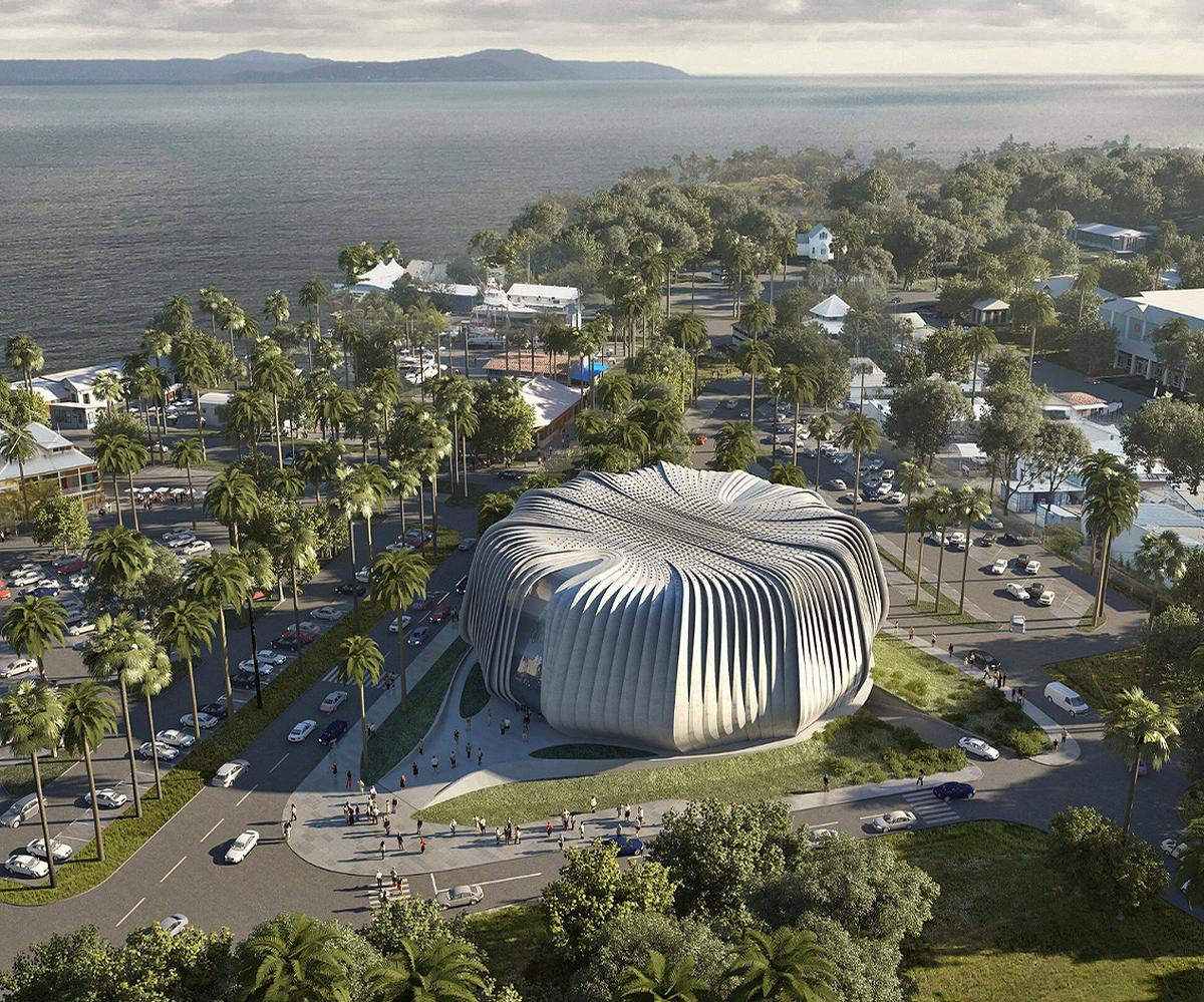 The 6,830sq m multi-function centre will host exhibition areas, an auditorium and classrooms / Contreras Earl Architecture