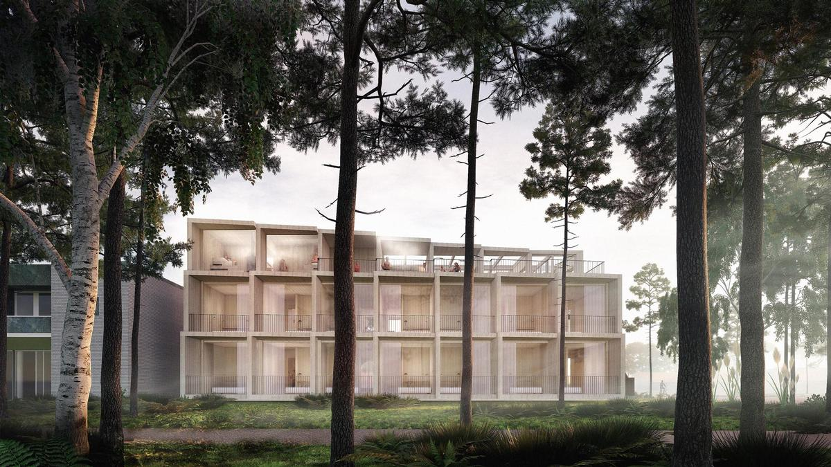 3XN design Denmark's first climate-positive hotel with rooftop spa