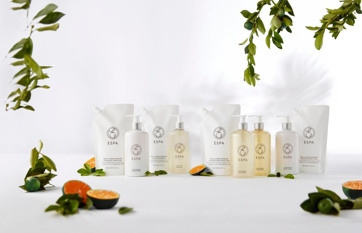 The collection is also available in the new blend soothing neroli and green mandarin / ESPA