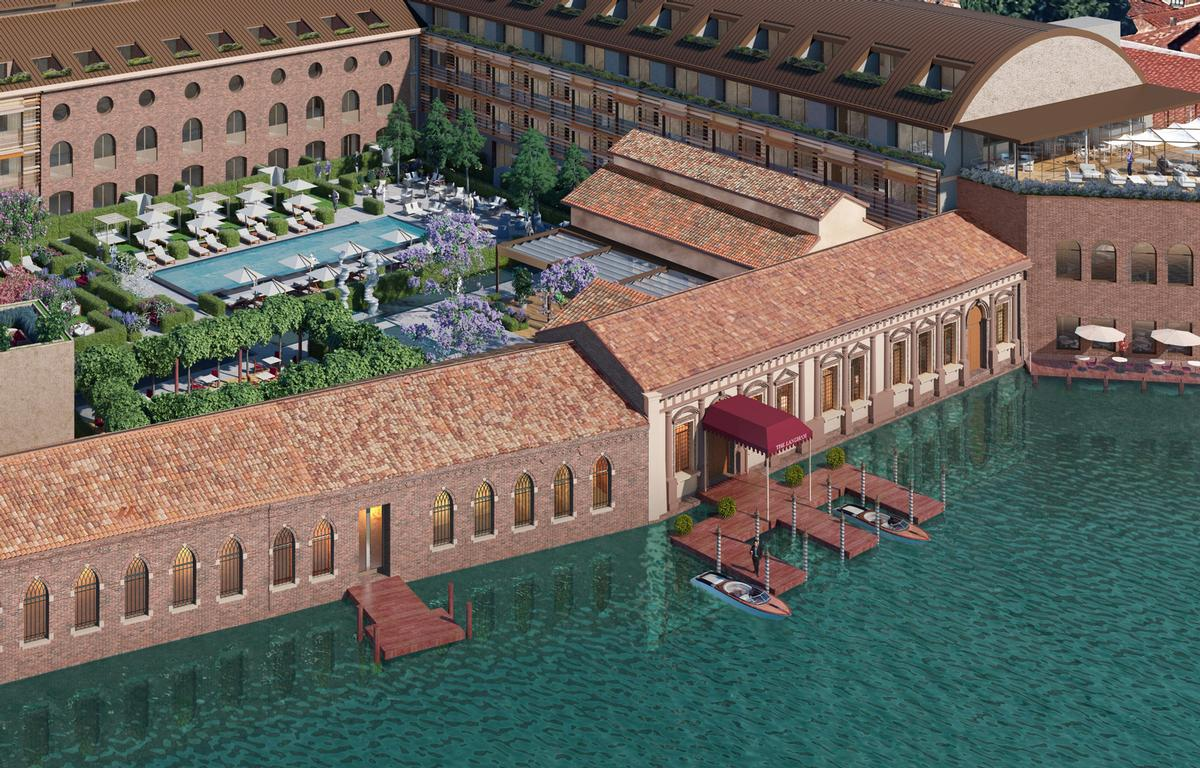 The hotel will be housed in an original 16th-century historic building with traditonal Venetian architecture enriched by frescoes / Langham Hospitality group