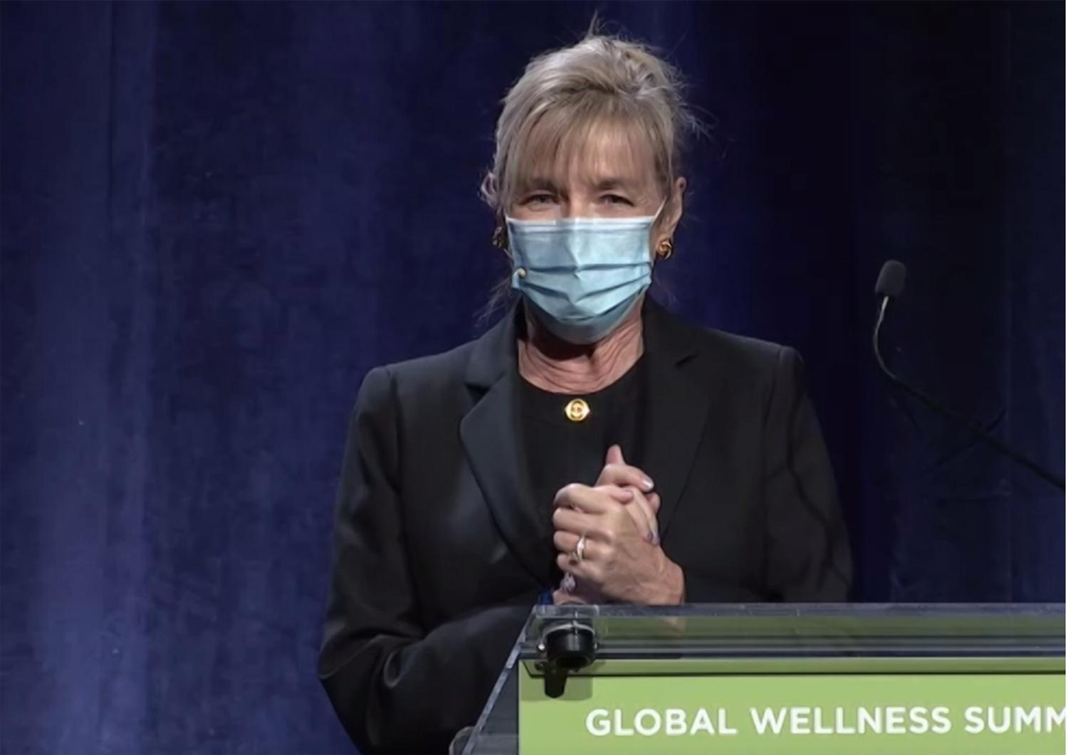 Susie Ellis provided a live update about the Wellness Moonshot initiative from the 2020 Global Wellness Summit / Global Wellness Summit