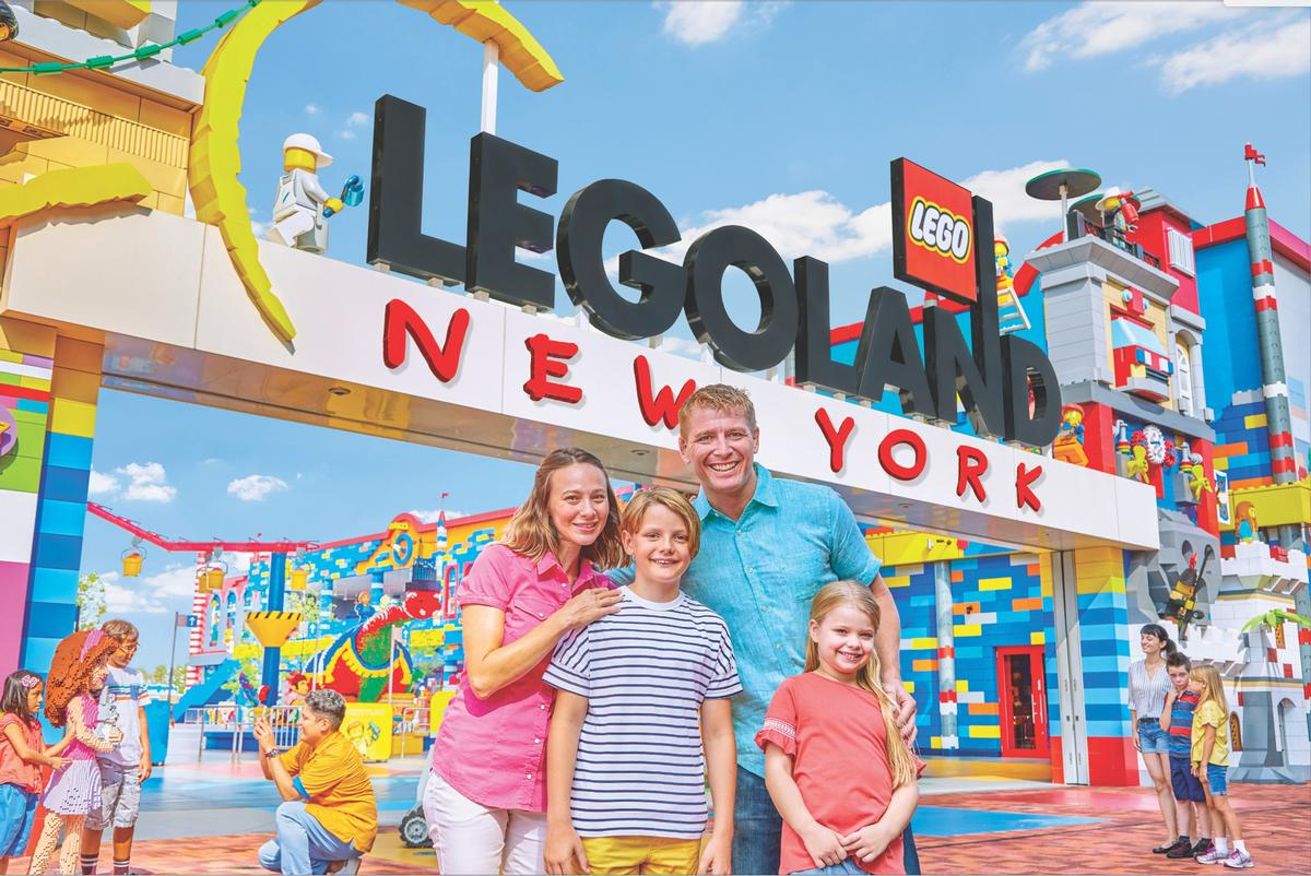 The attraction will feature the largest Legoland theme park ever built, spanning 150 acres and several themed lands / Legoland
