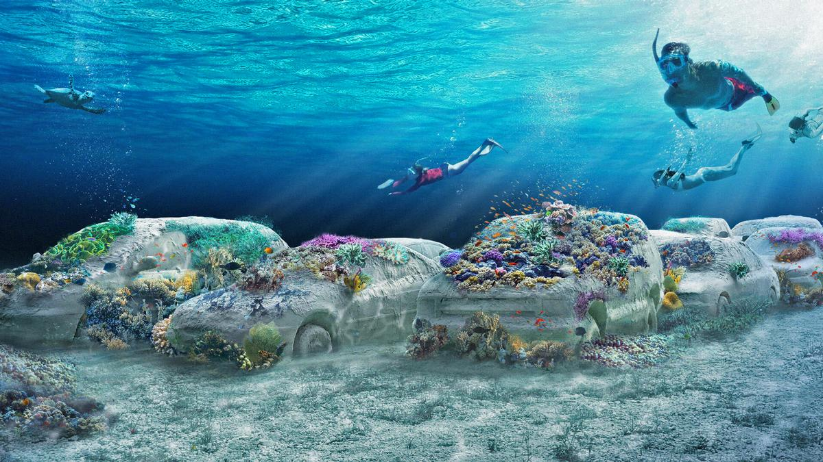 OMA designs Miami Beach's ReefLine – a seven mile-long underwater sculpture park
