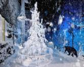 Swarovski is using the natural snowfall in its Chamber of Wonder which includes a Silent Light crystal tree designed by Alexander McQueen and Dutch designer Tord Boontje / TechnoAlpin