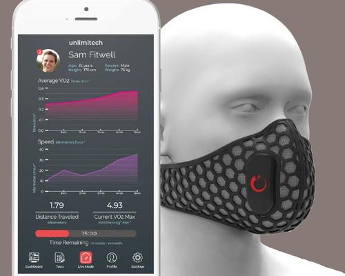 The mask is capable of measuring a number of performance-related indicators