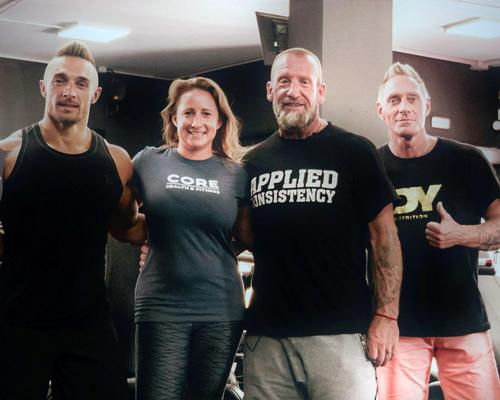 Dorian Yates (second from right) is working with Core to celebrate Nautilus' fiftieth anniversary