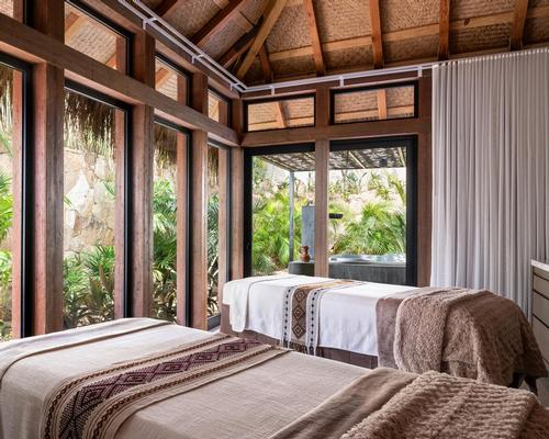 The 30,000sq ft spa's treatments and design are inspired by Mexican traditions and culture
