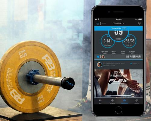GymAware tracks weight lifting performance with Flex