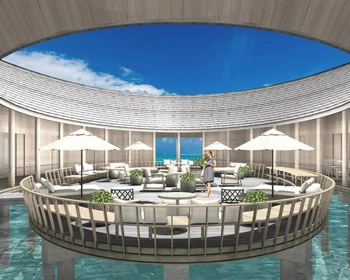 The spa takes its inspiration from the ocean, with its name 'Baani', translating to 'The Ocean Swell' in the Maldivian Dhivehi language
