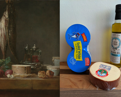 The museum challenged people at home to recreate a work of art using three items