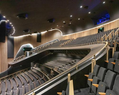 The 8000sq m (86,000sq ft) multi-mode venue features 2,000 seats