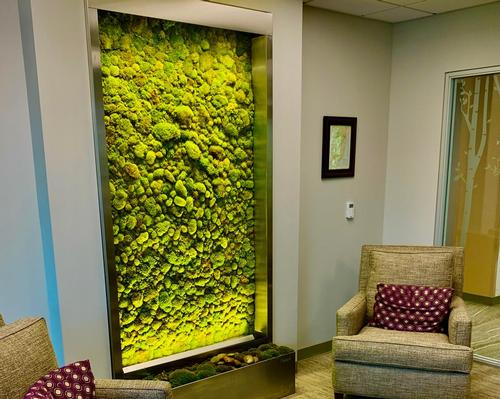 Verdure Wellness Walls enhances its live moss panels with essential oils