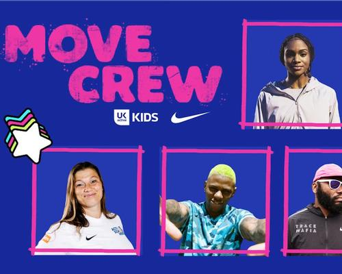 Called Move Crew, the programme features Nike athletes to inspire kids to get active / ukactive