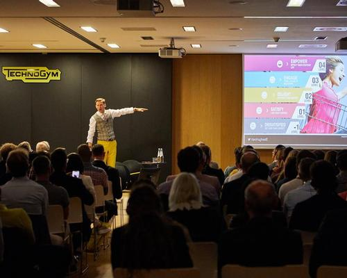 Ken Hughes presented at the Technogym Forum in 2019