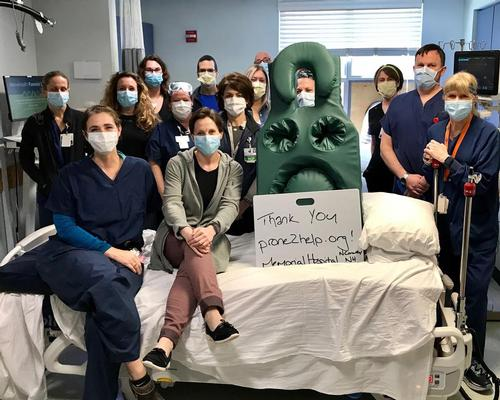 Living Earth Crafts donates prone massage mattresses to help treat COVID-19 patients