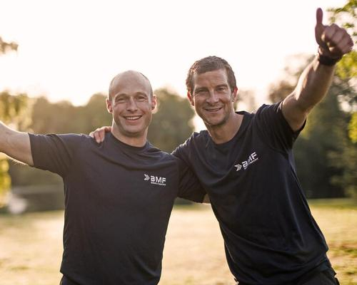 The workouts will be hosted by Bear Grylls (right) and supported by Tommy Matthews, a BMF Master Trainer