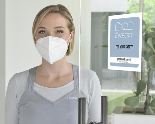 Staff will wear masks, visors or glasses, and gloves to ensure safety and create a sense of distance