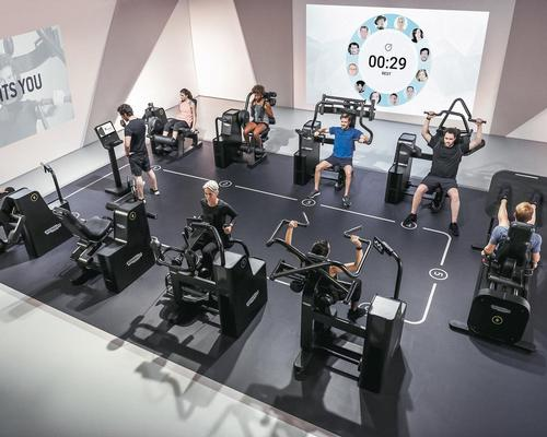 Technogym's Biocircuit can also be used to create workout spaces which adhere to social distancing measures