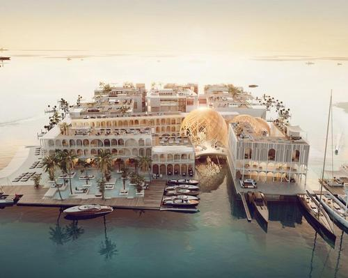 The Floating Venice hotel will feature a floating underwater spa / Kleindienst group