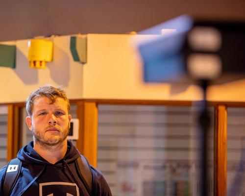 Wasps' star Joe Launchbury being screened by the heat camera when arriving to training / Wasps/Vodafone
