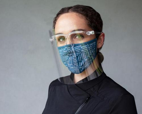 The face shields are reusable and recyclable