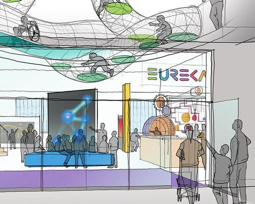 Designed by a team led by K2 Architects, the £11.75m science attraction is set to take over the existing Spaceport building at Seacombe ferry terminal / Eureka!/Real Studios