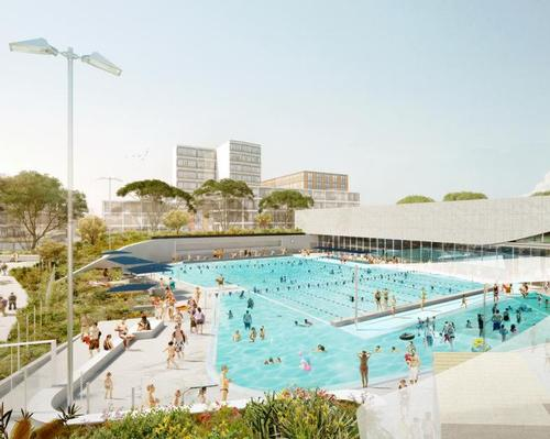 The complex will feature, among others, a 50m heated outdoor pool set within a larger, irregular shaped 'beach pool'