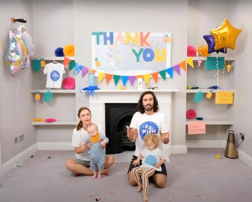 Wicks was joined by his family for the last ever PE With Joe workout on 22 July / Youtube.com/BodyCoach