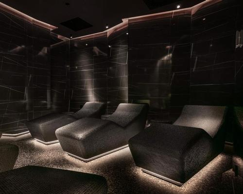 The nine-treatment room spa has been reimagined with the help of thermal specialists, Klafs