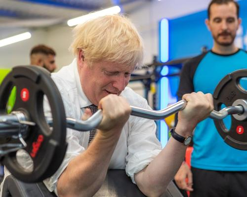 Johnson's appearance on a gym floor is in keeping with his new-found determination to tackle the UK's obesity crisis