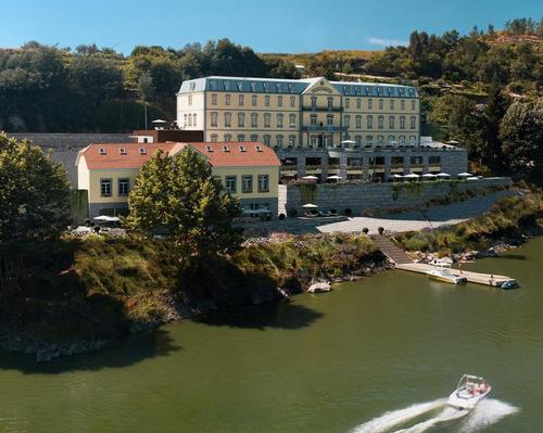Historic hot spring hotel in Portugal to be restored into riverside wellness retreat