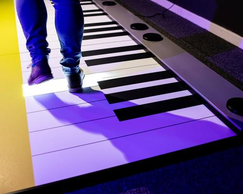 Step and Play is a giant interactive keyboard which allows users to create the authentic sound of the musical instrument by stepping on its keys