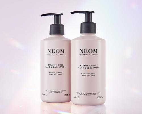 The line features a hand and body wash or lotion, available in two scents