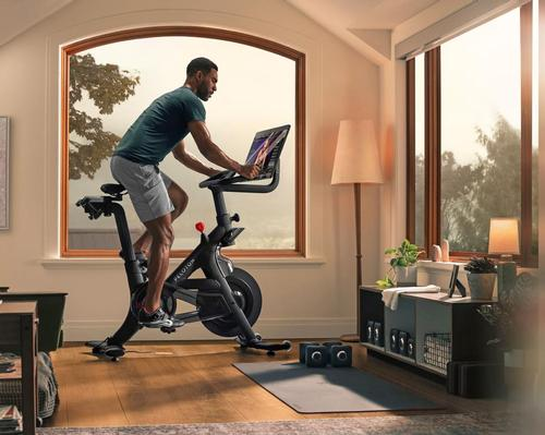 Features in the new Peloton Bike+ include a 23.8-inch rotating HD touchscreen and the ability to pair the bike with an Apple Watch