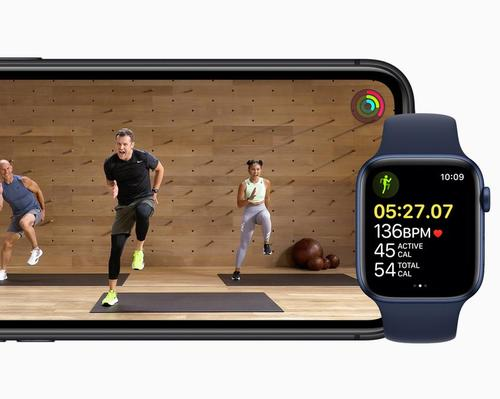 Apple Fitness+ works with Apple Watch to show metrics on screen