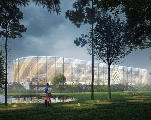Design aspects of the venue include an exterior draped in a see-through, perforated textile covering / B2Ai/SCAU
